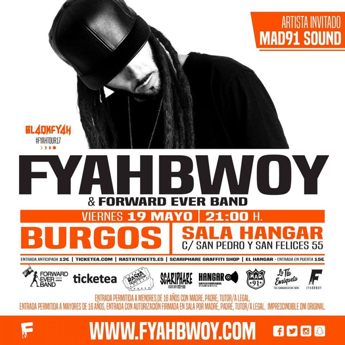 Fyahbwoy & Forward Ever Band en Burgos - #FyahTour17